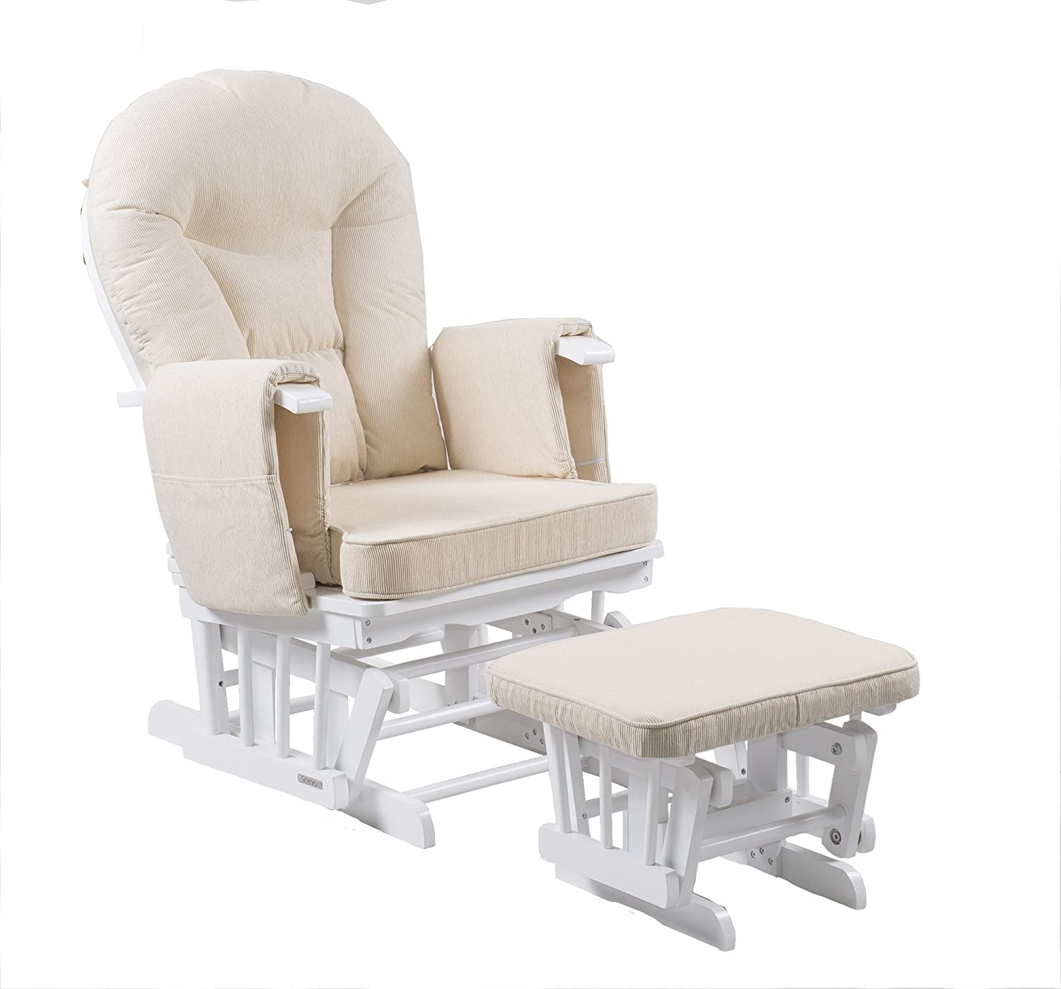 Serenity Nursing Glider maternity chair with footstool