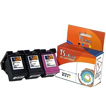 TS-Print Set de 3 Cartouches d encre pour Canon 2X HP-300-XL Noir ... 58fc33d2a68f