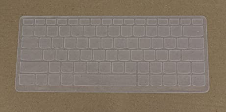 "Saco Keyboard Silicon Protector Cover for Lenovo Yoga 710-15 15.6"", Newest Lenovo Yoga 710-14 14"",Flex 4 14 ideapad 310s,ideapad 510S,Yoga 510 Laptops"