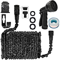 Garden Hose Pipes Expandable 25 Ft Double Quick Connect Garden Hoses with 10 Pattern Spray Nozzle Black Magic Hose Pipes…