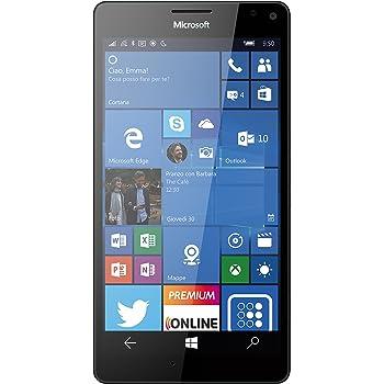 """Microsoft Lumia 950 XL Smartphone, 5.7"""", camera di 20 MP, 32 GB, Windows Phone 10, Nero"""