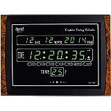 Ajanta Quartz Digital Green LED Rectangle Wall Clock OLC - 104 (39.6 cm x 29.6 cm x 4.5 cm)