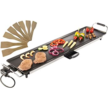 VonShef XXL Teppanyaki Grill   Electric BBQ Table Top Grill with Adjustable Temperature Control and 8 Spatulas   2000W
