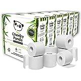 The Cheeky Panda Toiletpapier van bamboe, 24 stuks (6 verpakkingen met elk 4 rollen, 3-laags, 200 vellen), hypoallergeen, pla