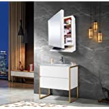 Happer Premium Multipurpose Wall Mounted Storage Cabinet with Mirror (White)
