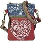 Domelo klein Trachtentasche Canvas Umhängetasche Damen Oktoberfest Tasche Dirndltasche Handtasche Crossbody Bag Schultertasch