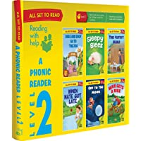 All set to Read- A Phonic Reader- Level 2- PHONICS READERS- 6 books in a Box: Box set