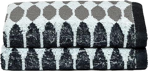 Nova Home - Rich Premium Cotton 360 GSM Jacquard Set of 2 Hand Towels (40 X 60cm.)
