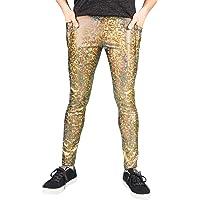 Meggings With Pockets/Men's Leggings - 3 COLOUR OPTIONS - Holographic Gold/Black/Metallic Turquoise - Handmade Festival…