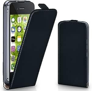 MoEx® Flipcase kompatibel mit iPhone 4S / iPhone 4   Klapphülle Handytasche mit Rundum Schutz - Handy Hülle Klappbar Flip Case, Schwarz