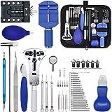 Gootoop 149Pcs Kit de Reparación de Relojes, Herramientas de Reloj Profesionales, Kit Relojero con Abridor y Pasadores, Herra