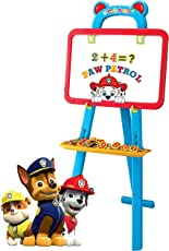 Paw Patrol 3 in 1 Educational Magnetic White Chalk Board Learning Easel for Kids 84 Pcs