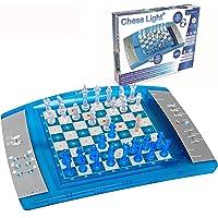 Lexibook-LCG3000 ChessLight, Jeu d'échecs électronique avec Clavier Tactile et Effets Lumineux et sonores, 32 pièces, 64…