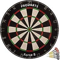 ProDarts Dartscheibe Foarce 8 – Aus hochwertigen A-Klasse Sisal Bristles – Extra dünne Drahtränder – 451 x 38 mm + Darts…