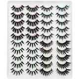 DYSILK 20 Paare 6D Falsche Wimpern Dramatische Wiederverwendbar Handgemacht Dicke Wimpern Natürlich Lange Künstliche Make-up-