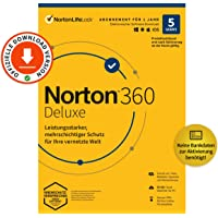 Norton 360 Deluxe 2021   5-Geräte   Antivirus   Unlimited Secure VPN   1 Jahr   Passwort-Manager   PC/Mac/Android/iOS…