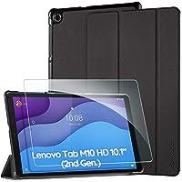 EasyAcc Custodia Cover Compatibile con Lenovo Tab M10 HD (2nd Gen) 10.1 con Vetro Temperato Ultra Sottile con Funzione…