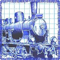 Papier-Zug - Tragen stickman Passagiere