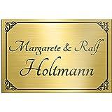 Deurbordje deurbordje met gravure 15x10 cm versch. kleuren en roestvrij staal of messing-look zelfklevend brievenbus schild n