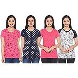 SHAUN Women's Printed T-Shirt (Pack of 4)