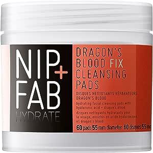 NIP+FAB Dragons Blood Fix Cleansing Pads, 60 Pads