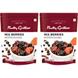 Nutty Gritties Mix Berries - Dried Cranberries, Blueberries, Strawberries, Black Currants - Healthy Snack for Kids and Adults