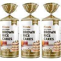 Pintola Organic Wholegrain Brown Rice Cakes (All Natural, Unsalted) (Pack of 1) + Pintola Organic Wholegrain Brown Rice…