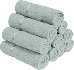 Story@Home 100% Cotton Soft Towel Set of 10 Pieces, 450 GSM - 10 Face Towels - Grey