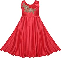 BENKILS Cute Fashion Baby Girl's Bright Satin Lycra Party Wear Frock Dress for