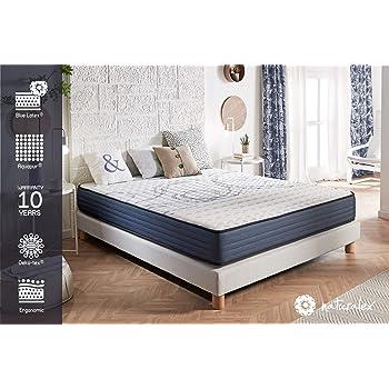 NATURALEX Matelas PerfectSleep - Noyau UHR Bi Densité Blue Latex et Aquapur – Très Respirant - 16 cm - 140 x 190 cm