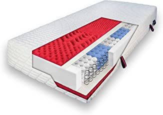 verapur SleepFlex 3D HybridGel Matratze   Härtegrad H2 & H3   7 Komfort-Zonen   Allergiker geeignet   Klimaband   Waschbarer Bezug   23 cm Gesamthöhe   Wendelaschen   Atmungsaktiv   ÖKO-Tex