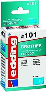 Edding 18 101 Druckerpatrone Edd 101 Ersetzt Brother Lc900c Einzelpatrone Cyan Bürobedarf Schreibwaren