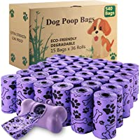 McNory Sacchetti per Cani, 540 pezzi/36 rotoli Dog Poop Sacchetti biodegradabili Dog Sacchetti di rifiuti con Dispensers…