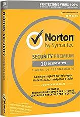 Norton Security Premium Antivirus Software 2018 | Protezione Antivirus per 10 Dispositivi (Licenza di 1 anno) | Compatibile con Mac, Windows, iOS e Android