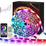 Maxsure Led Strip 10M, RGB Led Strip met Afstandsbediening, Meerkleurig, Geheugenfunctie, 4 Muziekmodi, 300 Leds, Synchronisa