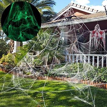 Amazonde Unomor Halloween Deko Halloween Spinnennetz Dekoration