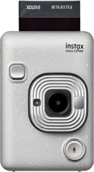 Fujifilm 16631760 Instax Mini LiPlay Hybrid Instant Camera - Stone White