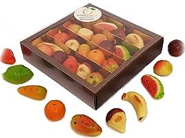 Frutti di pasta di mandorle, martorana o marzapane siciliano in splendida confezione regalo. RAREZZE: prodotti tipici...