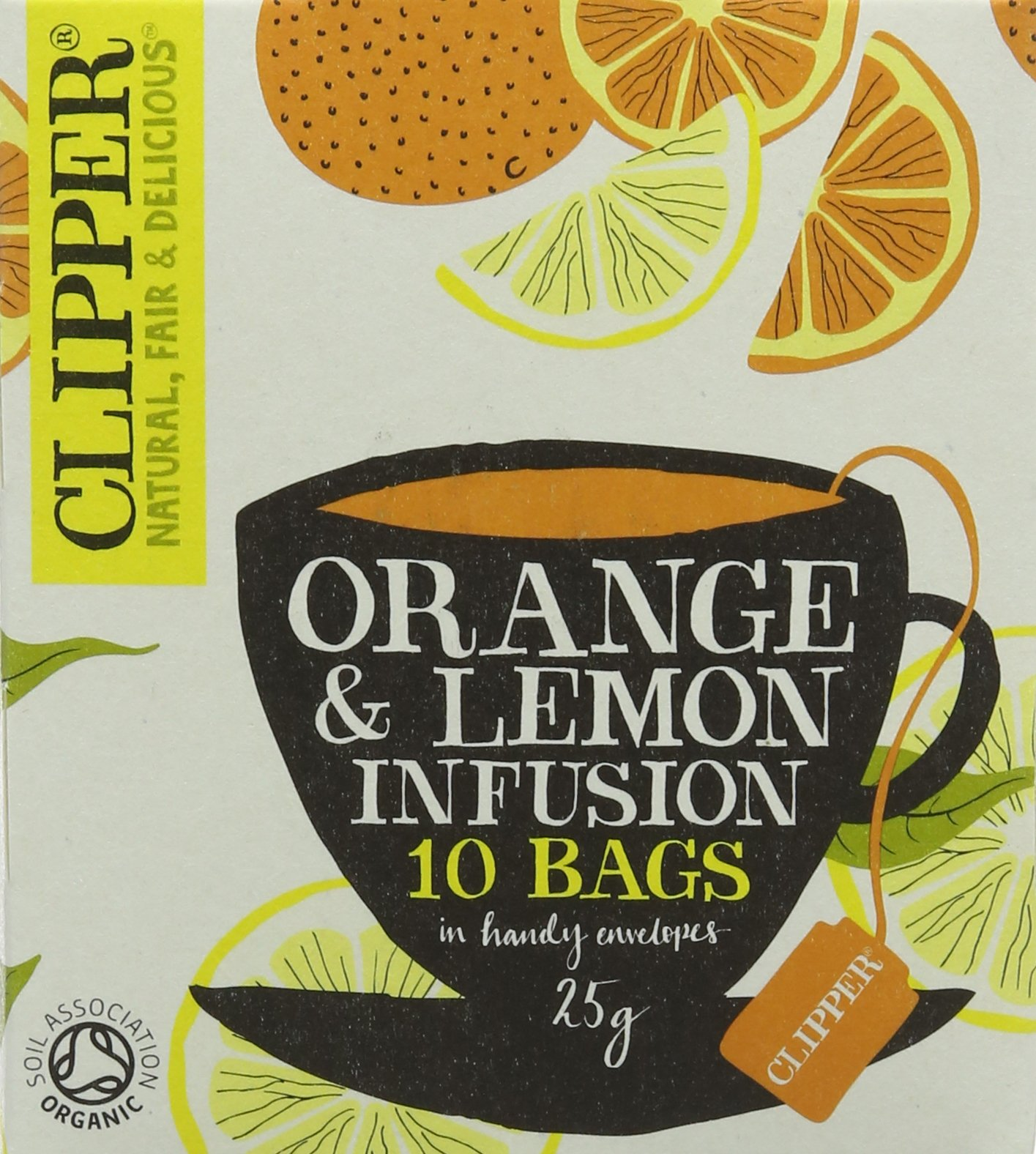Clipper organic st clements tea bundle (soil association) (infusions) (st clements) (6 packs of 10 bags) (60 bags) (a floral, fruity tea with aromas of lemon, liquorice, orange, rosehip) (brews in 3-5 minutes)