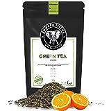 Edward Fields Tea ® - Té verde orgánico a granel con Naranja. Té bio recolectado a mano con ingredientes y aromas naturales,