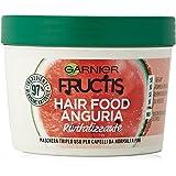 Garnier Fructis Hair Food Anguria Rivitalizzante, Maschera 3-in-1 per Capelli Fini, Balsamo, Maschera e Trattamento senza Ris