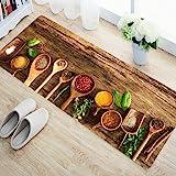 Status 3D Digital Printed Kitchen/Bedside Runner Floor Carpet Rug With Anti Skid Backing for Home/Kitchen/Living Area/Office