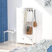 Armoire pour Vetement, DIY Armoire Plastique Chambre, Armoire Enfant Adultes, Assemblage Facile pour Vêtements…