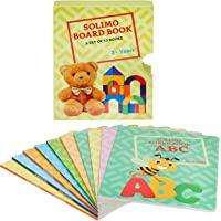 Amazon Brand - Solimo Long Board Book, Set of 10 (Alphabets, Fruits, Numbers, Vegetables, Words, Animals, Birds, Vehicles, General Knowledge, Nursery Rhymes)