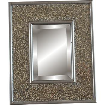 glamour by casa chic mosaikspiegel gold 30x25 cm kosmetikspiegel zum aufstellen oder. Black Bedroom Furniture Sets. Home Design Ideas