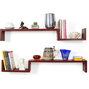 Forzza Cooper Wall Shelf (Matt Finish, Mahogany)