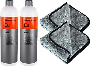 PARTS4CARE 2X Koch Chemie Eulex Klebstoffentferner Fleckenentferner 1L & P4C Mikrofasertuch