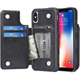 Migeec Case for iPhone X and iPhone Xs - Wallet Case with PU Leather Card Pockets [Shockproof] Back Flip Cover for…