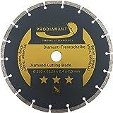 PRODIAMANT Diamant-Trennscheibe 230 x 22,2 mm - Beton, Stein, Ziegel, universal - Diamanttrennscheibe 230mm