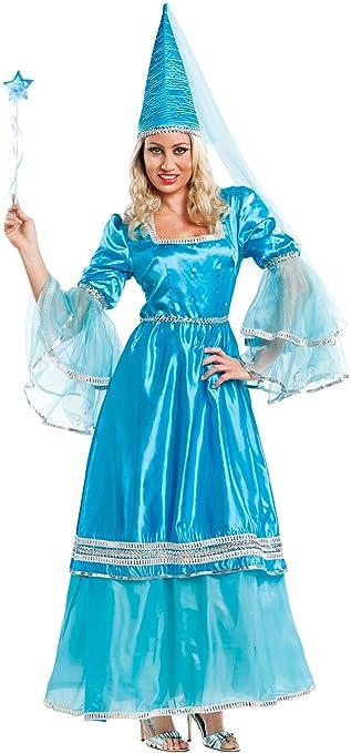 Preferenza COSTUME di CARNEVALE da FATA AZZURRA vestito per Donna adulti  IY84